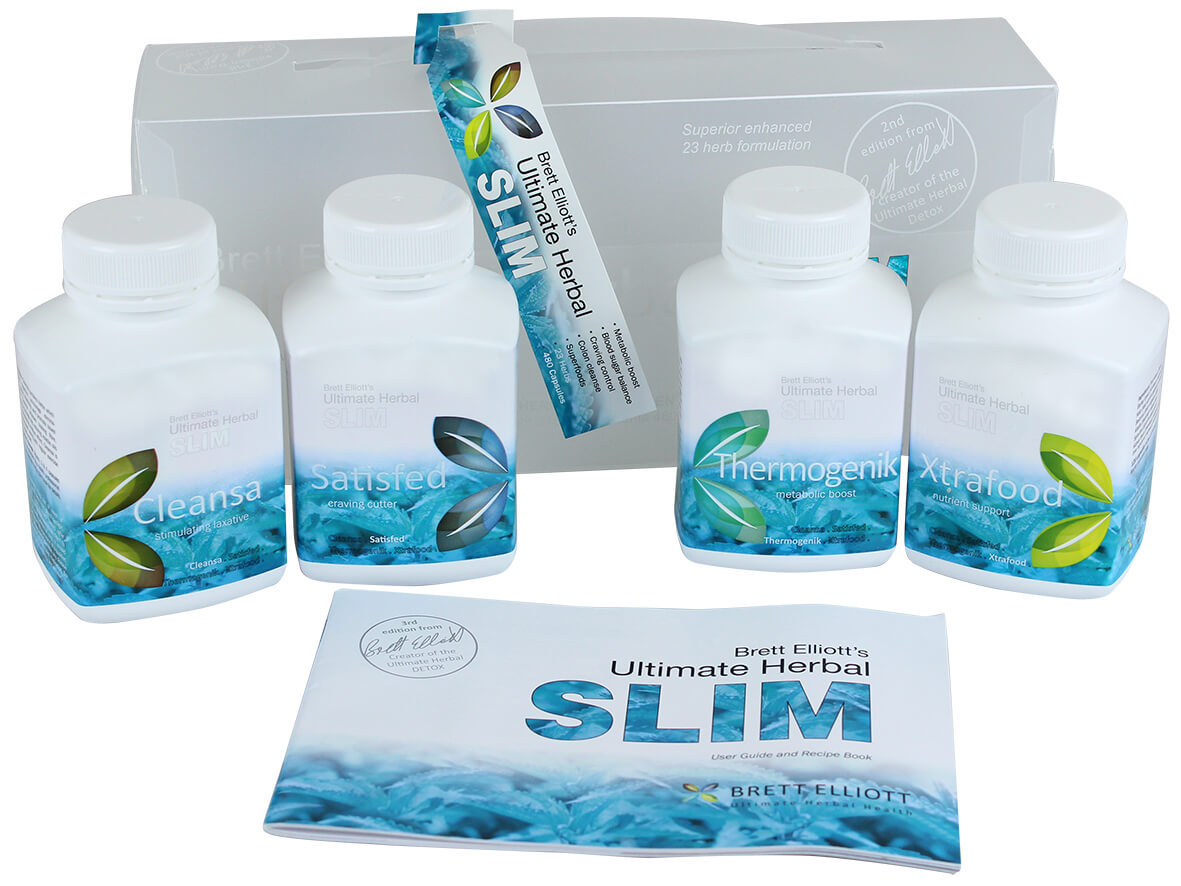 Ultimate Herbal Slim program with bottles