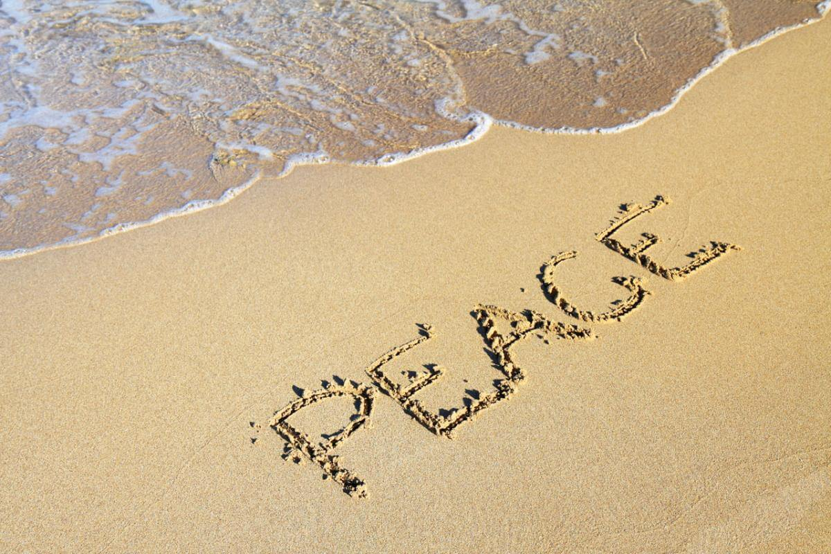 Peace at beach