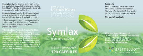Symlax bulking fiber prebiotic laxative