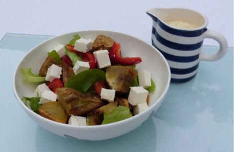 Kumara, Capsicum Leafy Salad