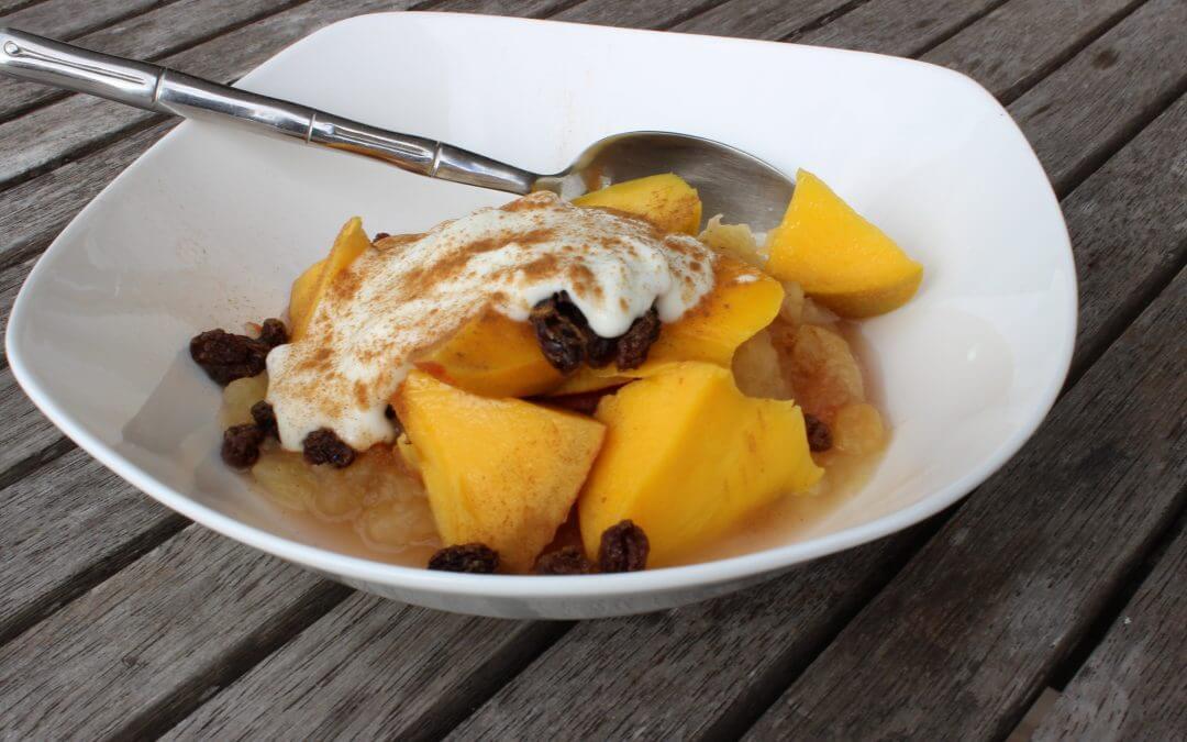 Stewed Apple and Mango