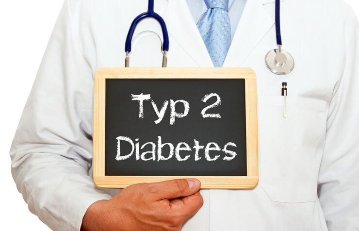 Doctor holding Type 2 diabetes sign