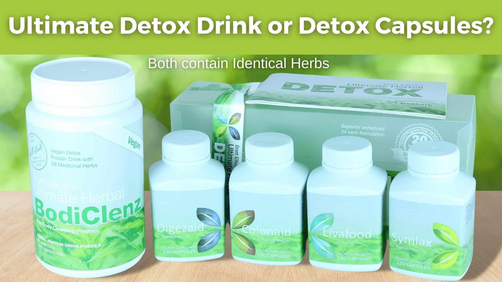 detox drinks or capsules
