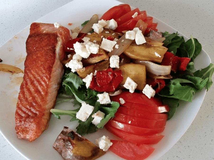 Salmon, Sweet Potato and Feta