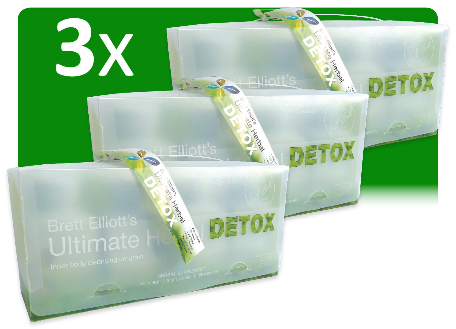 3 x Ultimate Herbal Detox programs