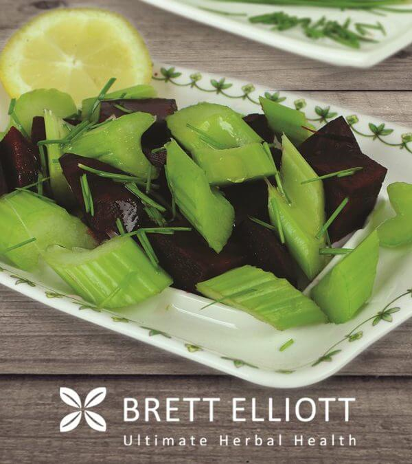 Beetroot, Celery & Chive Salad