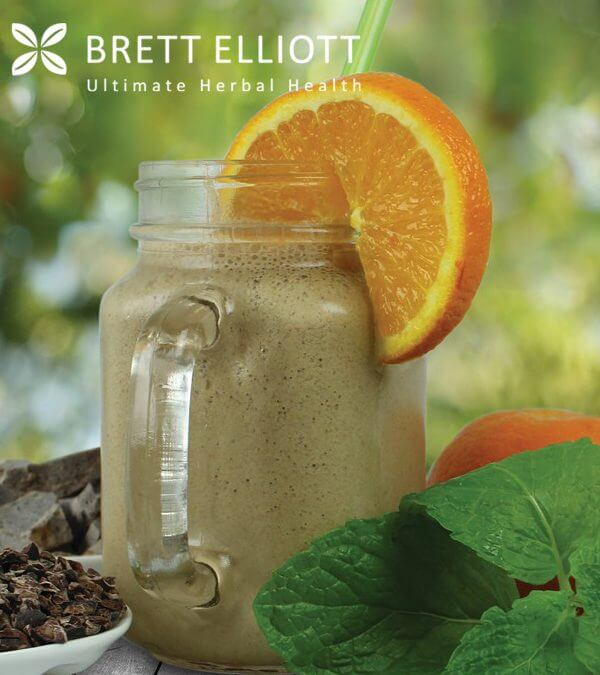 Chocolate Orange Mint Protein smoothie