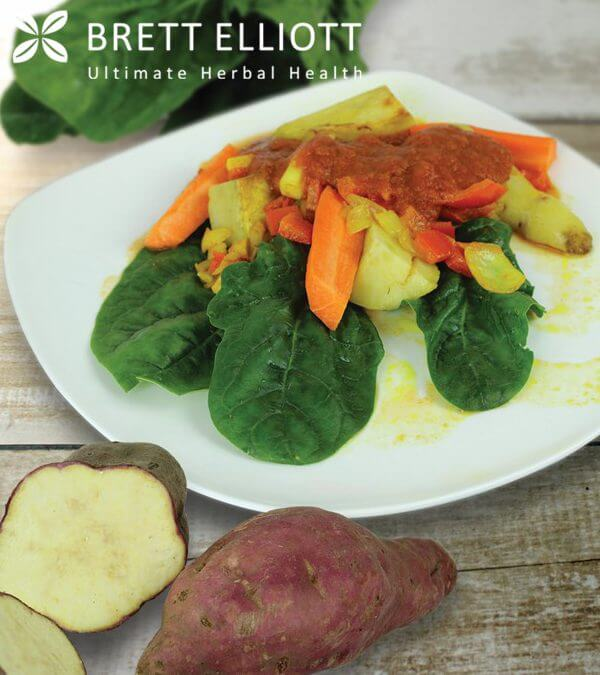 Spinach & Sweet Potato Salsa