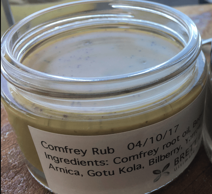 Comfrey Rub – Making it at home