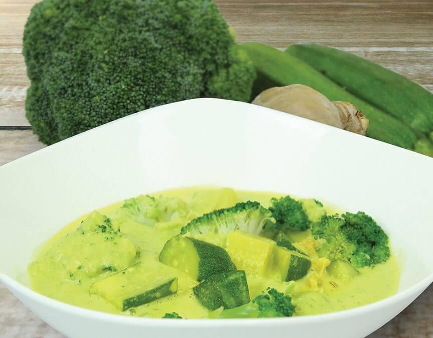 Zucchini, Broccoli & Ginger Soup