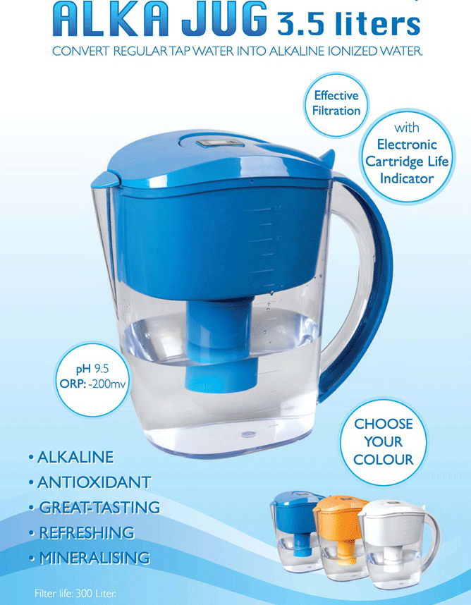 Alka Jug Alkaline and ionized water